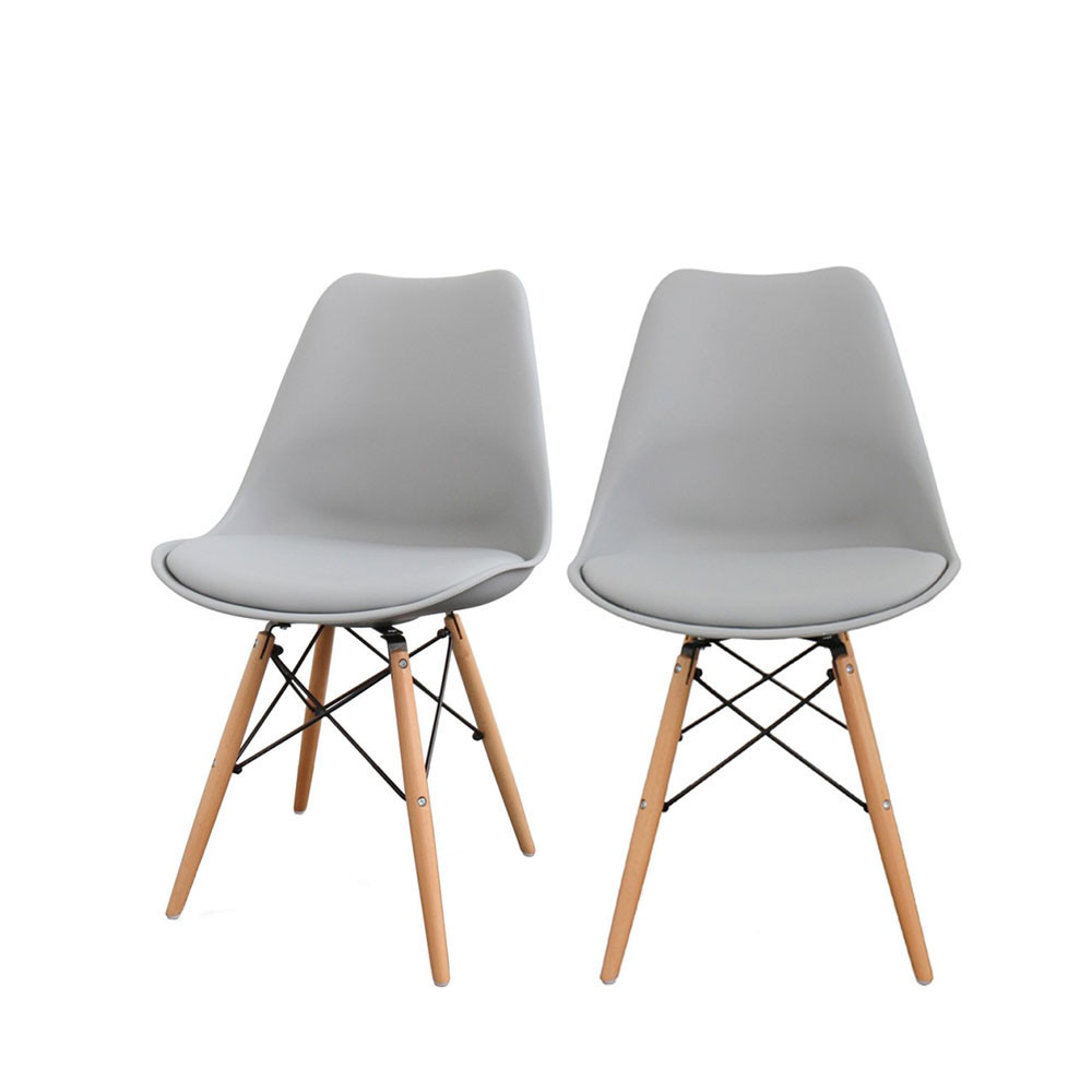 Design Chaises Lot De 2 Chaises Design Nielsen Par Drawer.fr