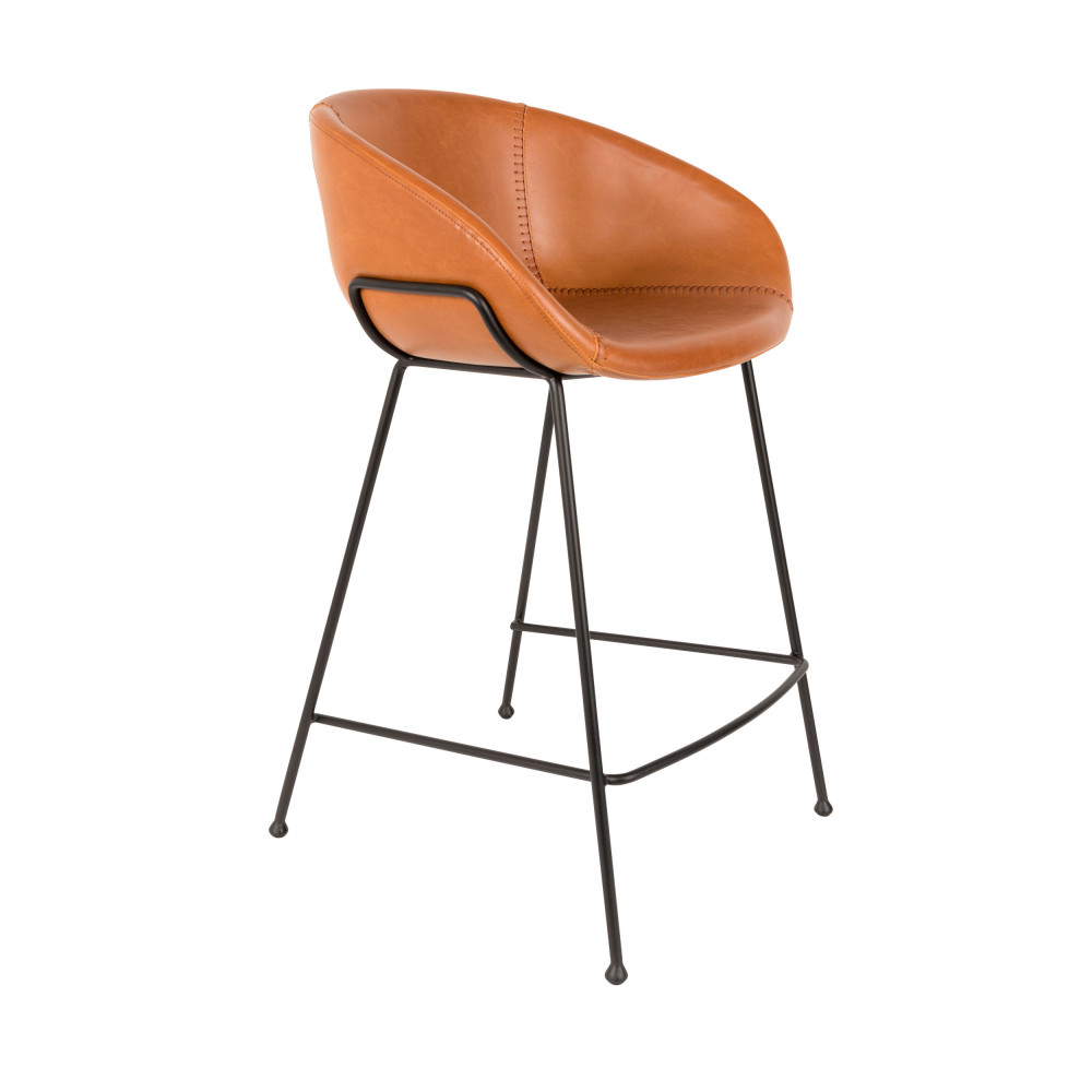 Chaise De Bar Marron Feston Tabouret De Bar 65cm