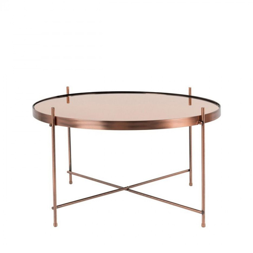 Table Basse Cuivre Table Basse Design Ronde Large Zuiver Cupid