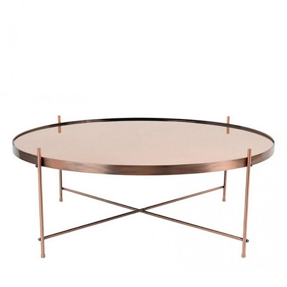Table Basse Cuivre Table Basse Design Ronde Xxlarge Zuiver Cupid