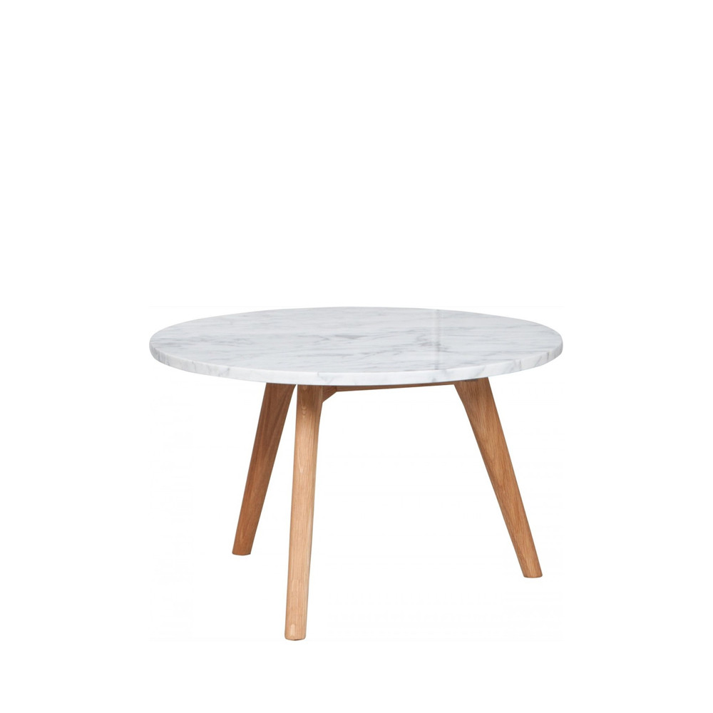 Table Basse Ronde Design Table Basse Ronde Bois Et Marbre L Zuiver White Stone