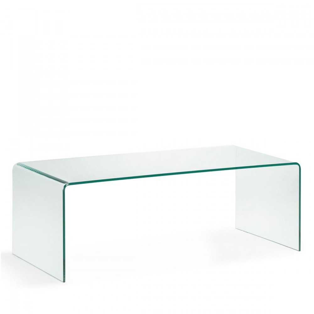 Table Basse Zuiver Table Basse En Verre Trempé Transparent Burano Par Drawer.fr