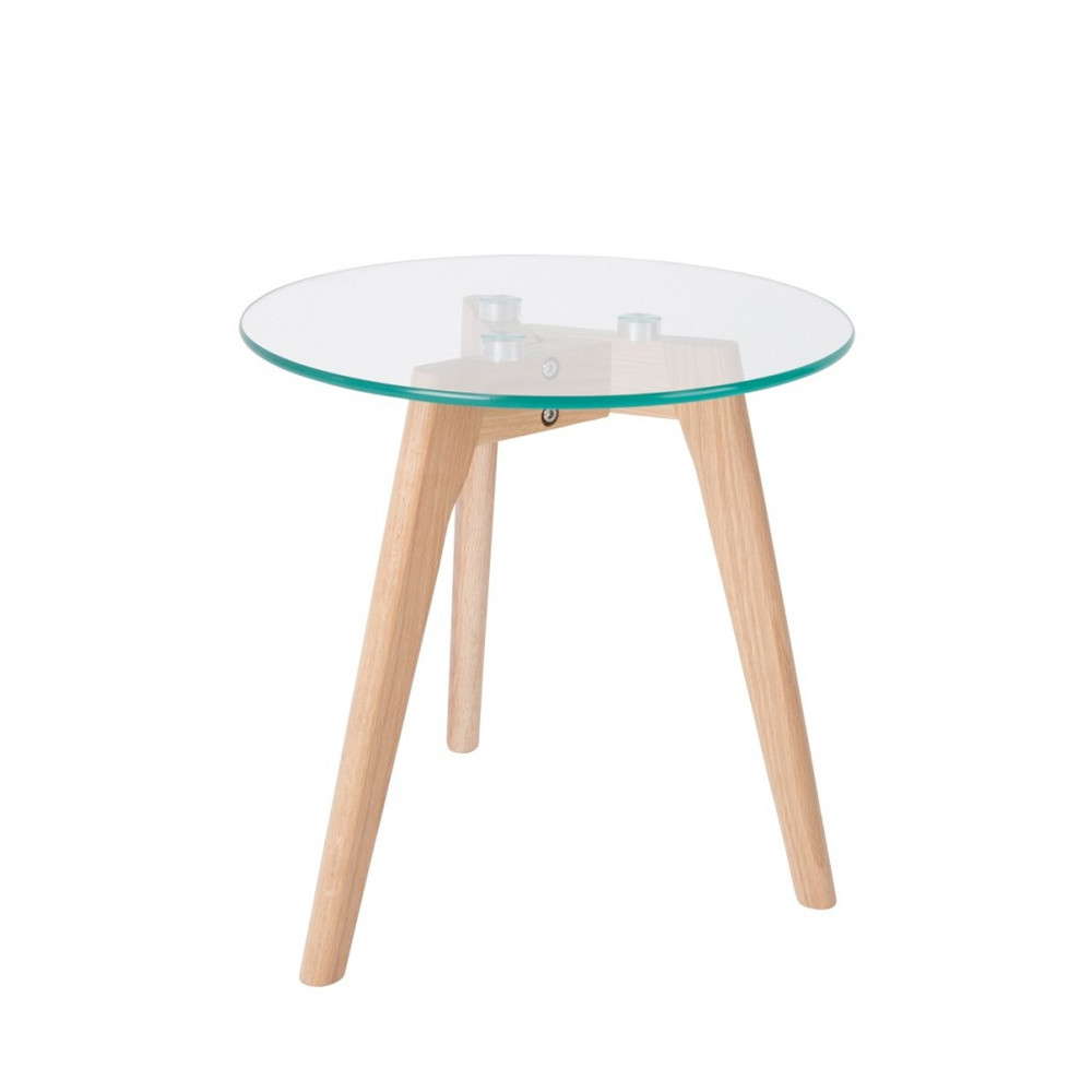 Table En Verre Scandinave 2 Tables Basses Scandinaves Verre Et Chêne Bror