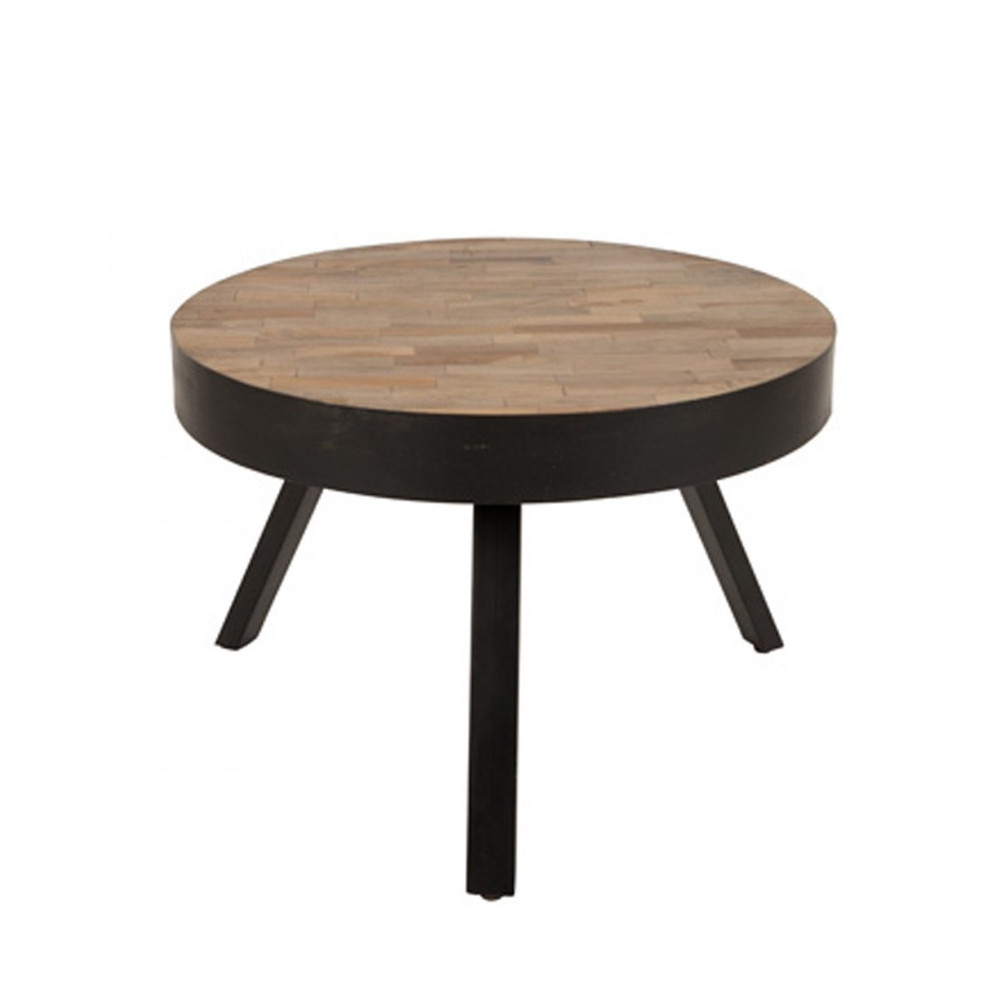 Table En Teck Ronde Table Basse Ronde ø58 Cm En Teck Recyclé Medium Suri