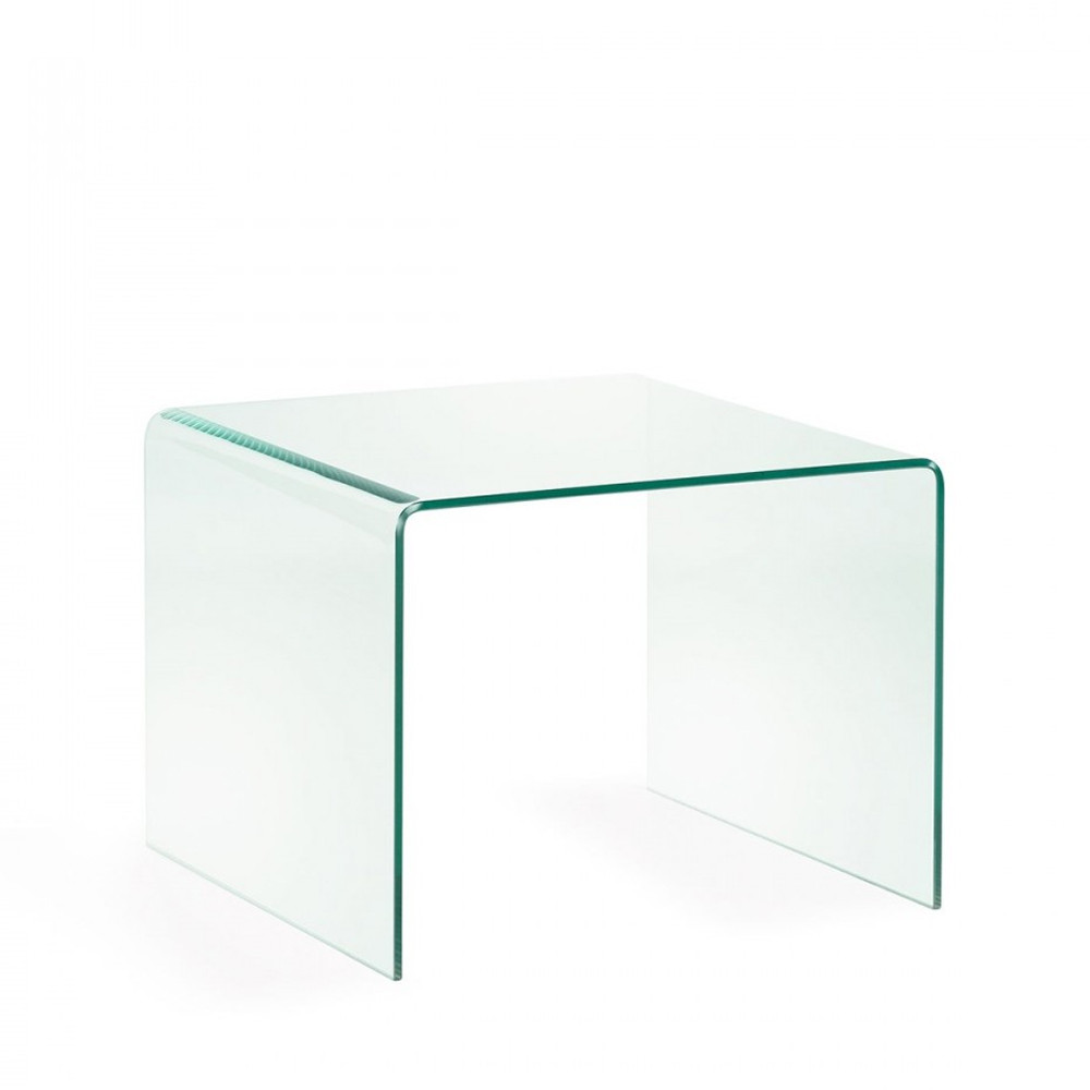 Table Appoint Verre Table D Appoint Verre Transparent Burano