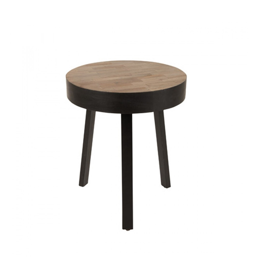 Table En Teck Ronde Table Basse Ronde ø45 Cm En Teck Recyclé Small Suri