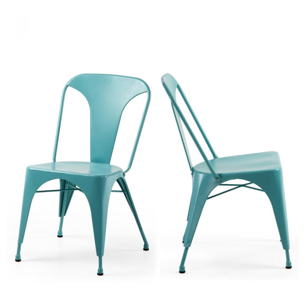 Chaises Industrielle Mali 2 Chaises Métal Indoor Outdoor