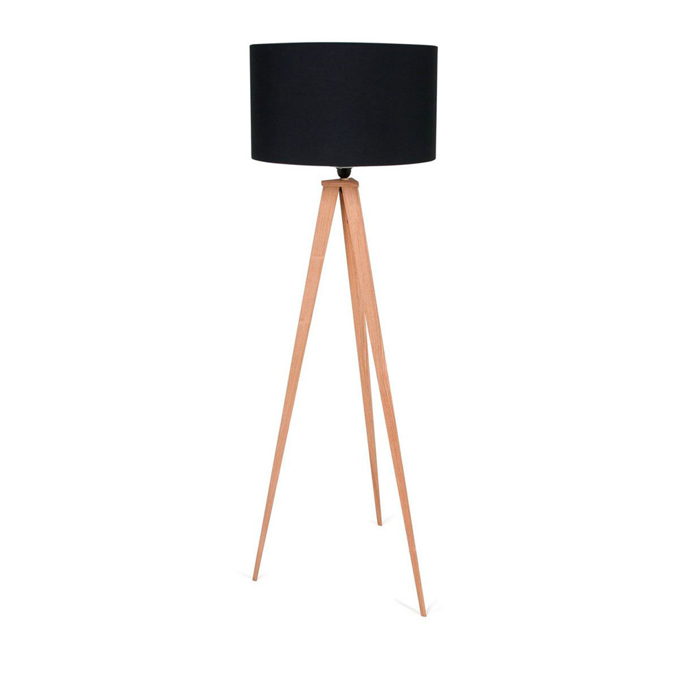Lampe Trepier Lampadaire Tripod Wood Zuiver