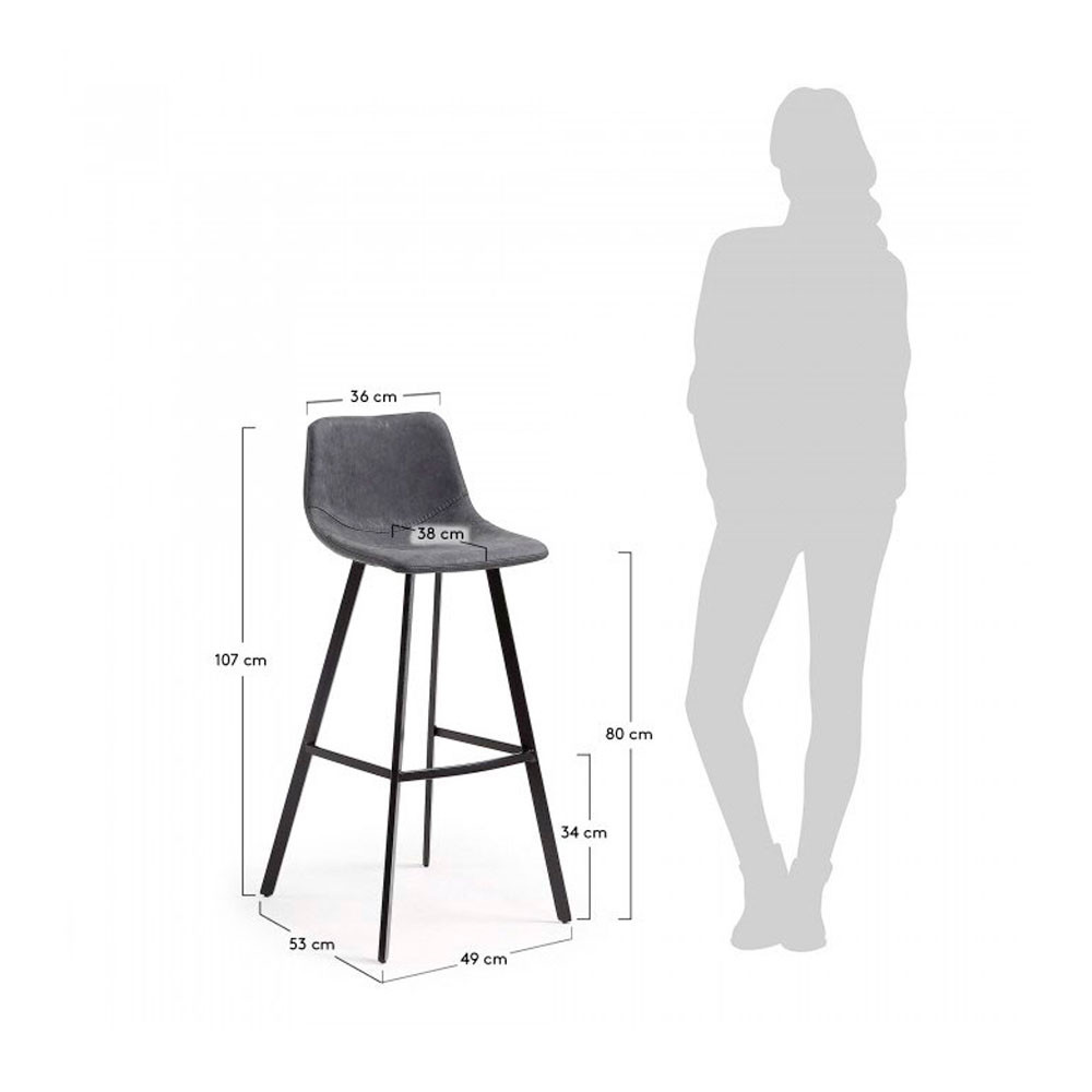 Tabouret 80 Cm Lot De 2 Tabourets De Bar 80cm Alve Drawer