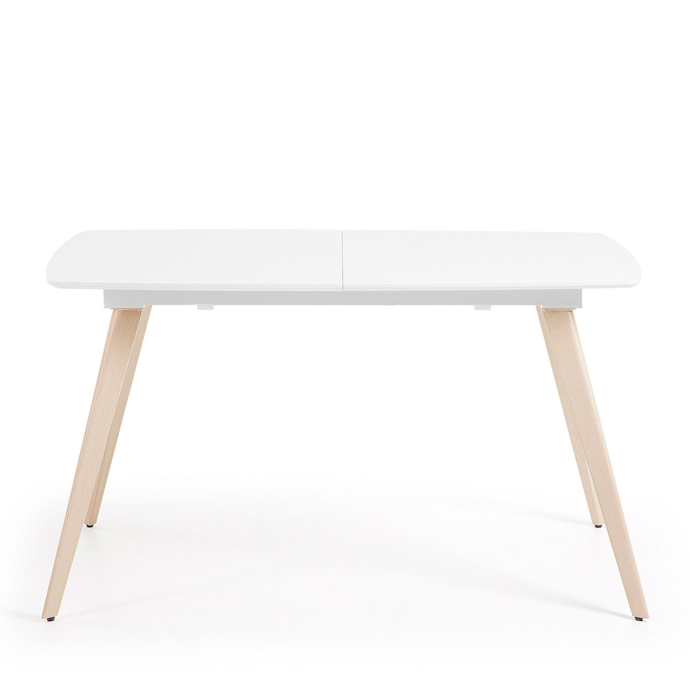 Table Ronde Laquée Blanc Extensible Smash Table à Manger Extensible 140 190x88cm