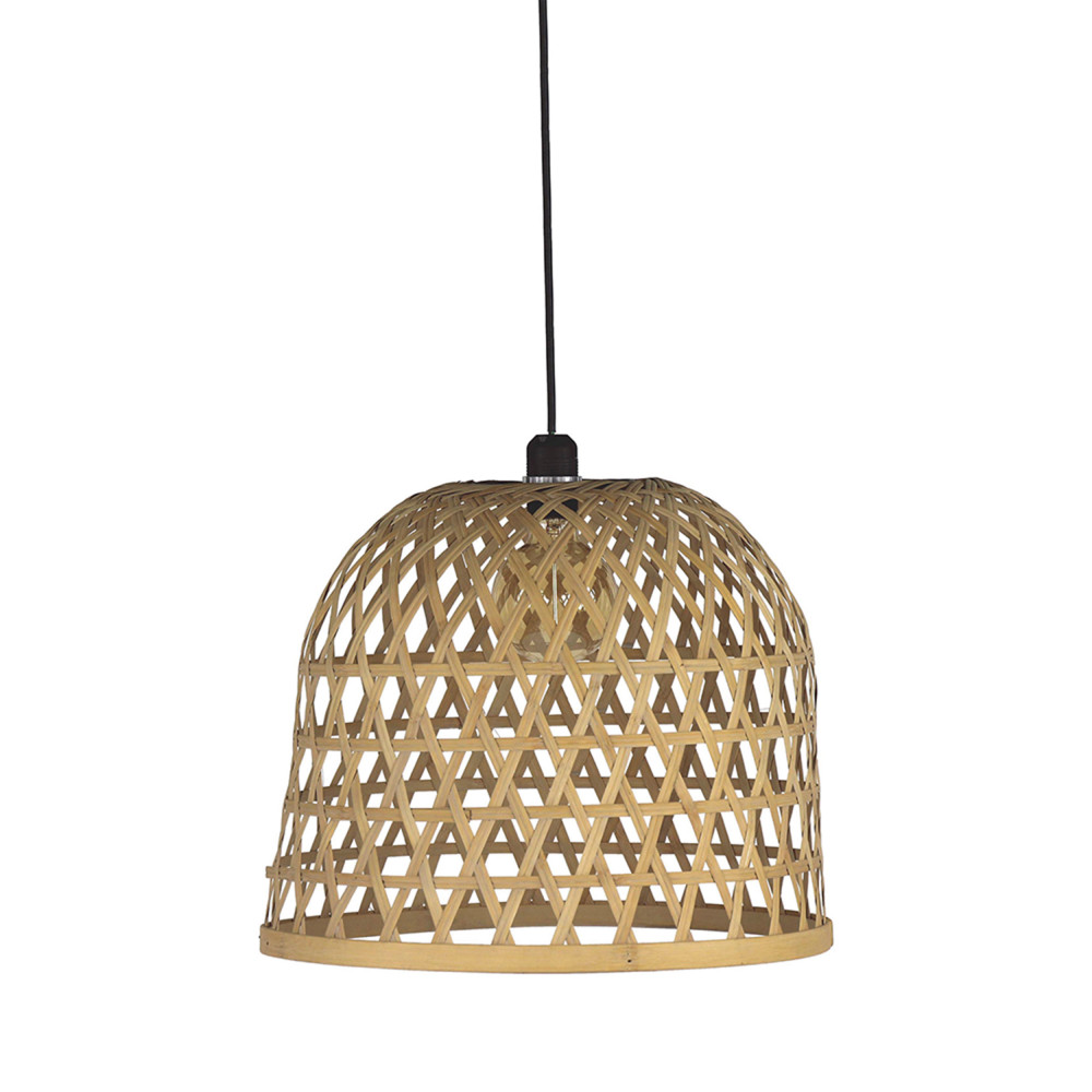 Lampe Suspension Sans Fil Laeso Suspension En Bambou M