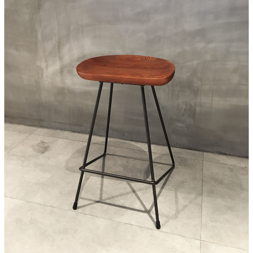 Tabourets Bar Bois Empilables Tabouret De Bar Métal Bois Vintage 66cm Drawer Winton