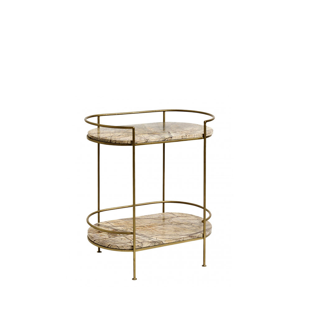 Table Marbre Ovale Table D Appoint Ovale En Marbre Nordal Jungle