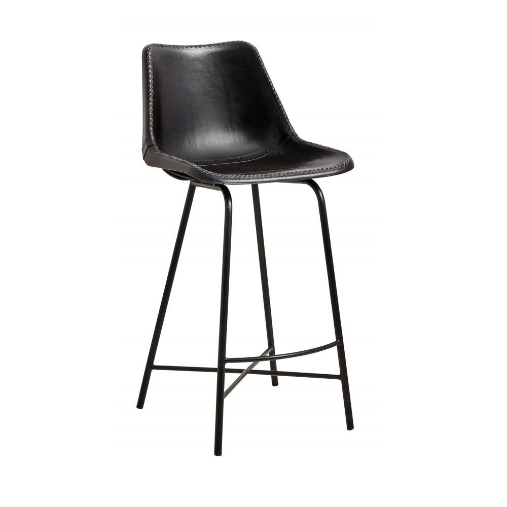 Chaise De Bar En Cuir Hollose Tabouret De Bar En Cuir 68cm