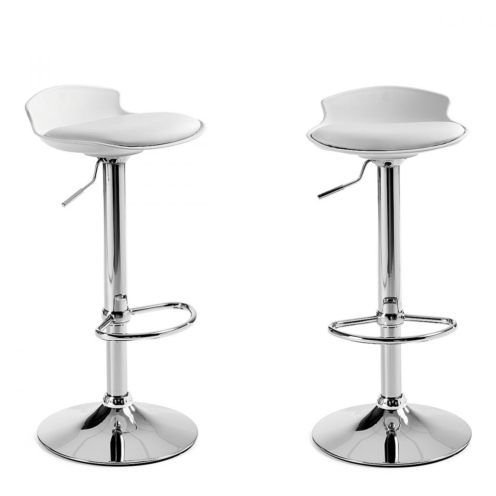 Lot De 2 Tabourets De Bar Blanc Uma One 2 Tabourets De Bar Design