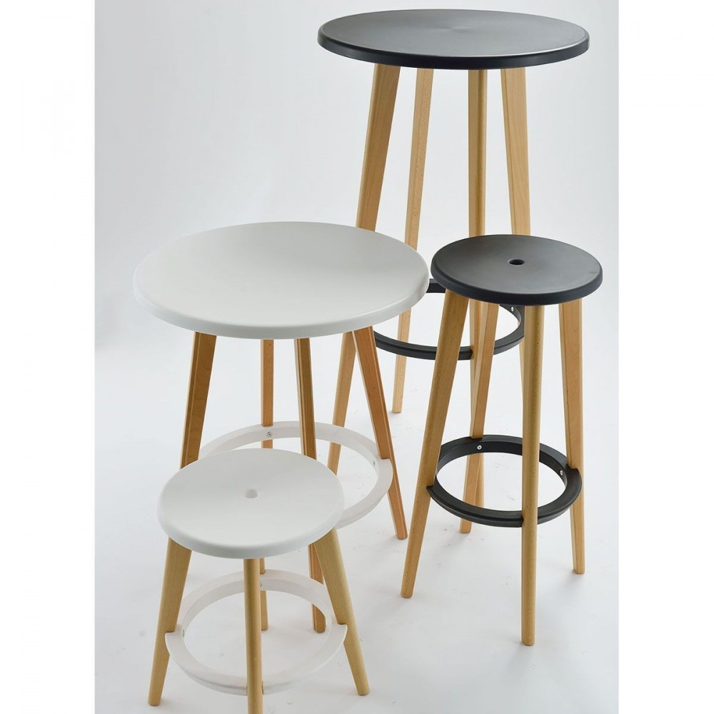 Table Ronde Bois Blanc Table De Bar Ronde Design Drawer Harry S