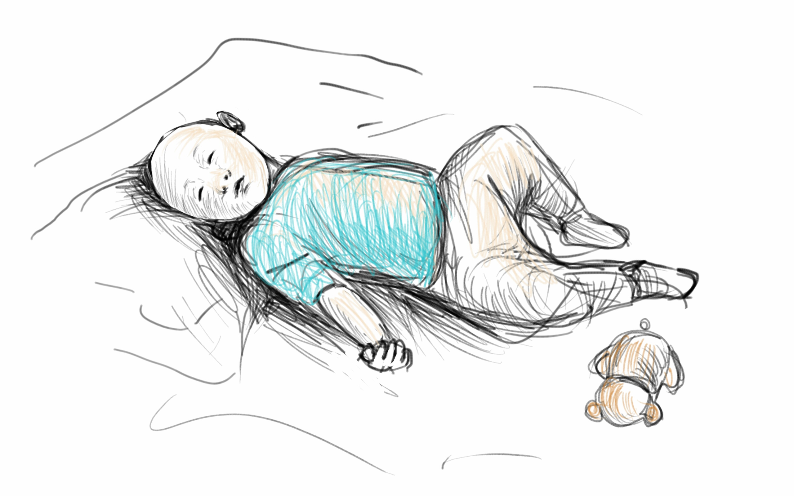 Baby Sleeping Drawing