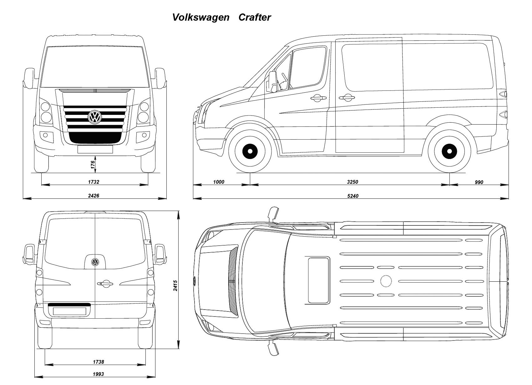 Volkswagen Crafter 2006 Blueprint Download Free