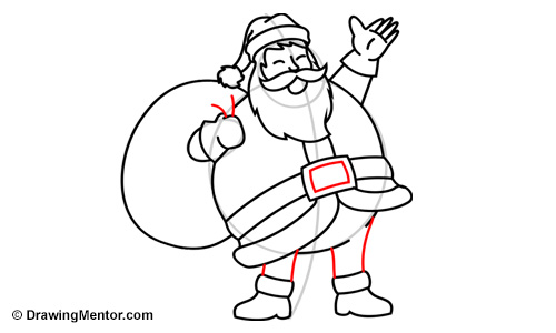 How To Draw Santa Tutorial