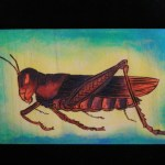 This is the first piece I've done with the Colwood. Wood burn with acrylics. Color study. Grasshopper from biologycorner.com.