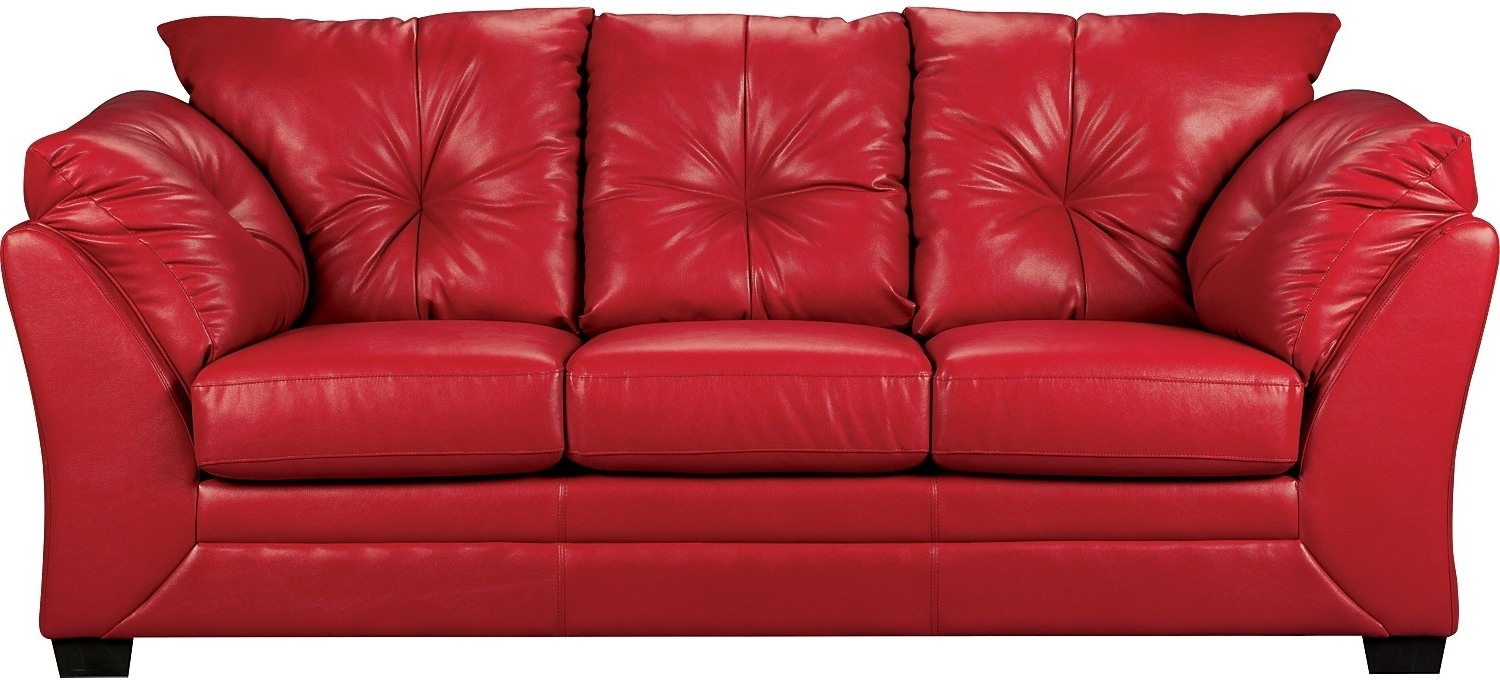 2021 Popular Red Leather Couches