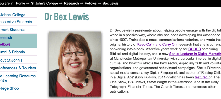 bex-lewis-hon-research-fellow-st-johns-durham-university
