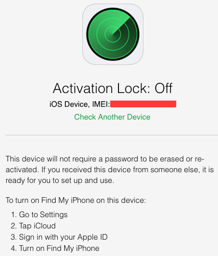 how to get the activation lock
