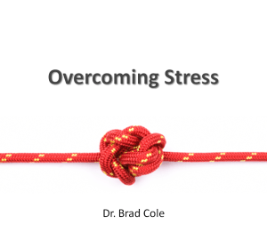 Overcoming Stress Cover