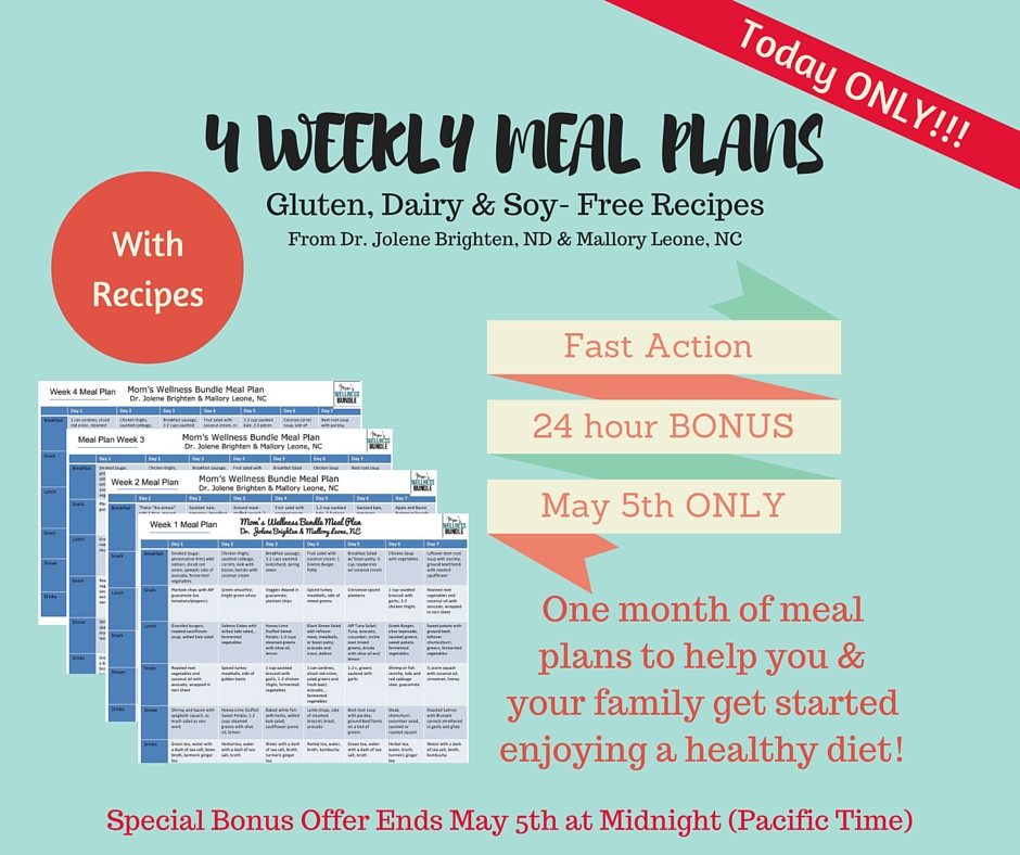 FB bonus meal plans (2) - Dr Jolene Brighten - meal plans