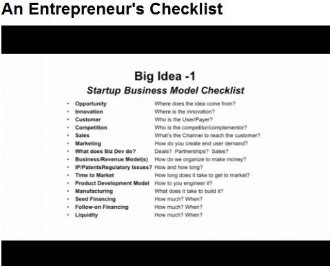 An Entrepreneur\u0027s Startup Business Model Checklist - Diane Hamilton