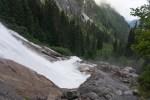 Lower cascade and slimy rocks