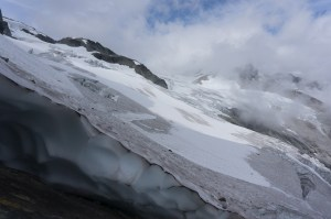 Mounting the Redoubt Glacier