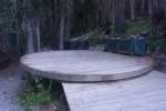 Ranger tent platform at Glacier Meadows