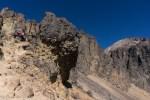 Crags below hut