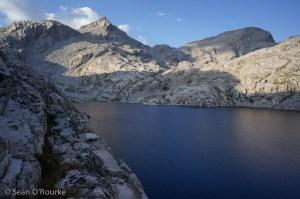 Traversing around Chasm Lake