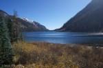 Looking down Emerald Lake