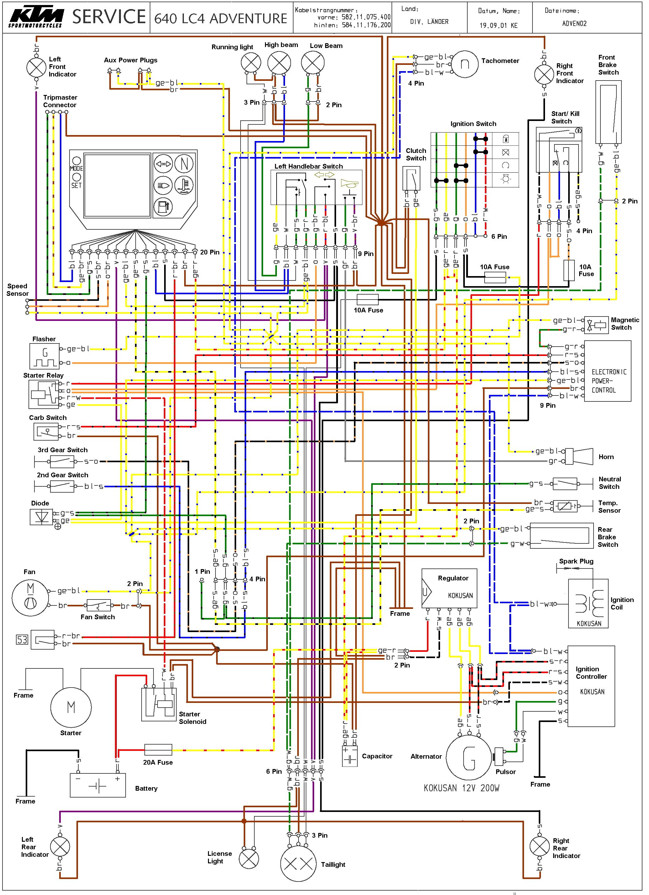 WRG-7679 Ktm 620 Wiring Diagram
