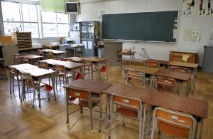 An empty classroom of the Nisitenma elem