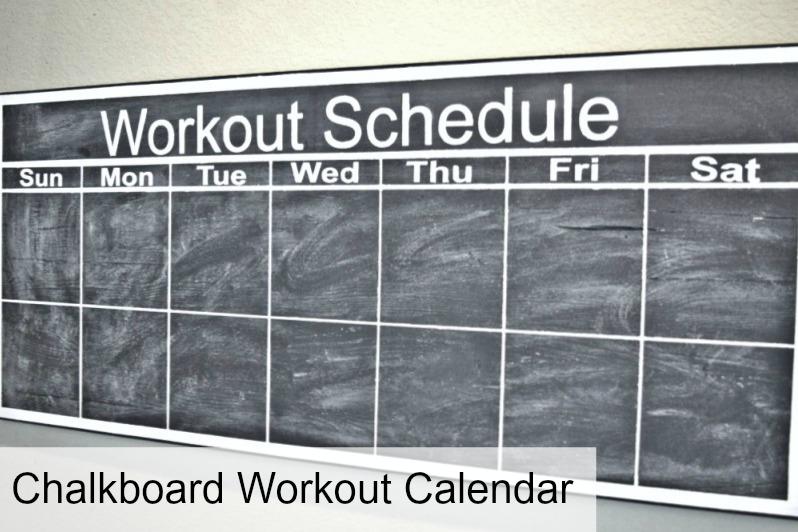 How to Make a Chalkboard Workout Calendar - Dream Design DIY
