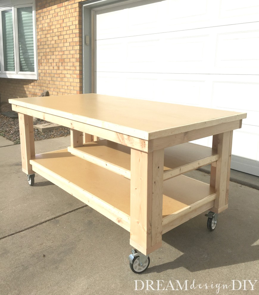 Diy Workbench With Wheels How To Build The Ultimate Diy Garage Workbench Free Plans
