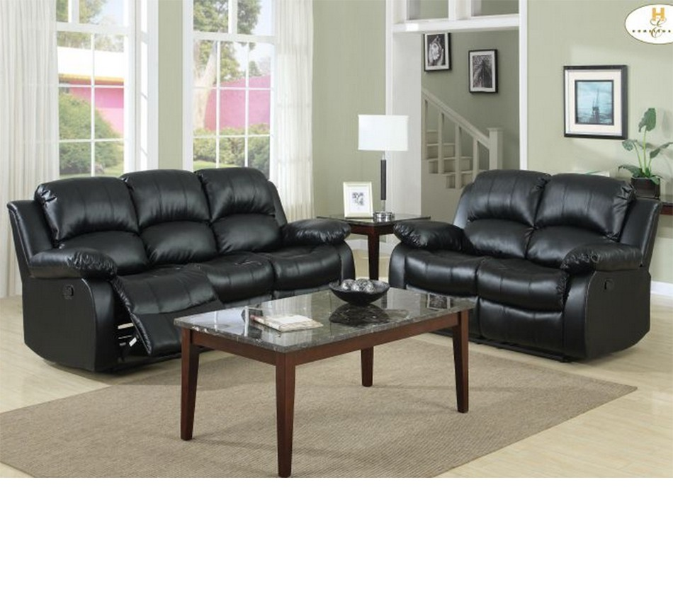 Sofa Set On Sale 9700 Cranley Recliner Sofa Set Black