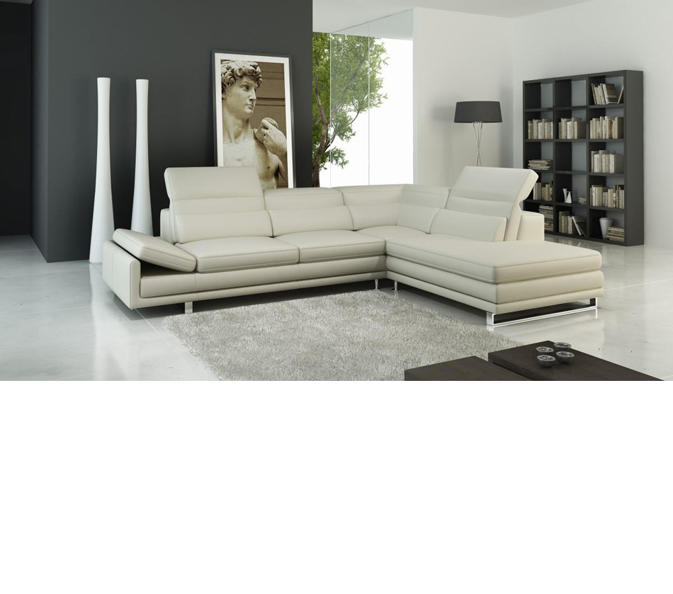 Dreamfurniture Com 958 Modern Italian Leather Sectional Sofa