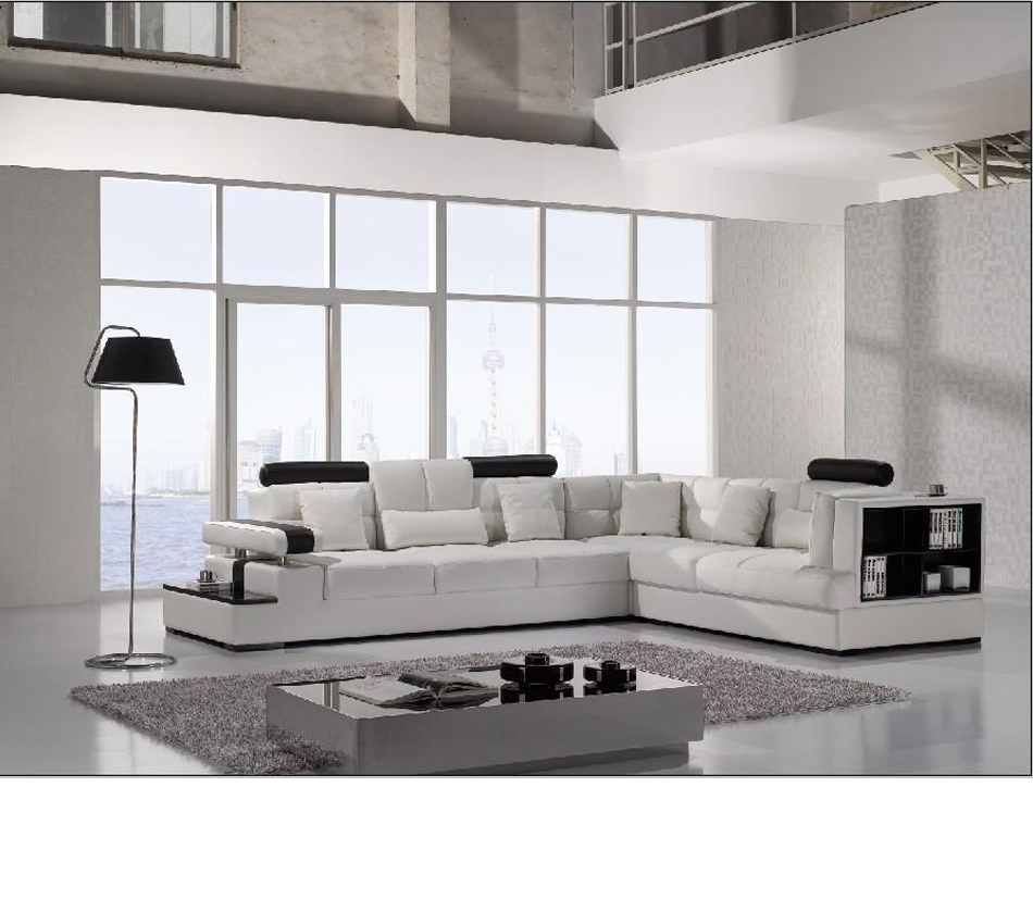 Leather Sectional Vancouver Divani Casa T117 Modern Leather Sectional Sofa