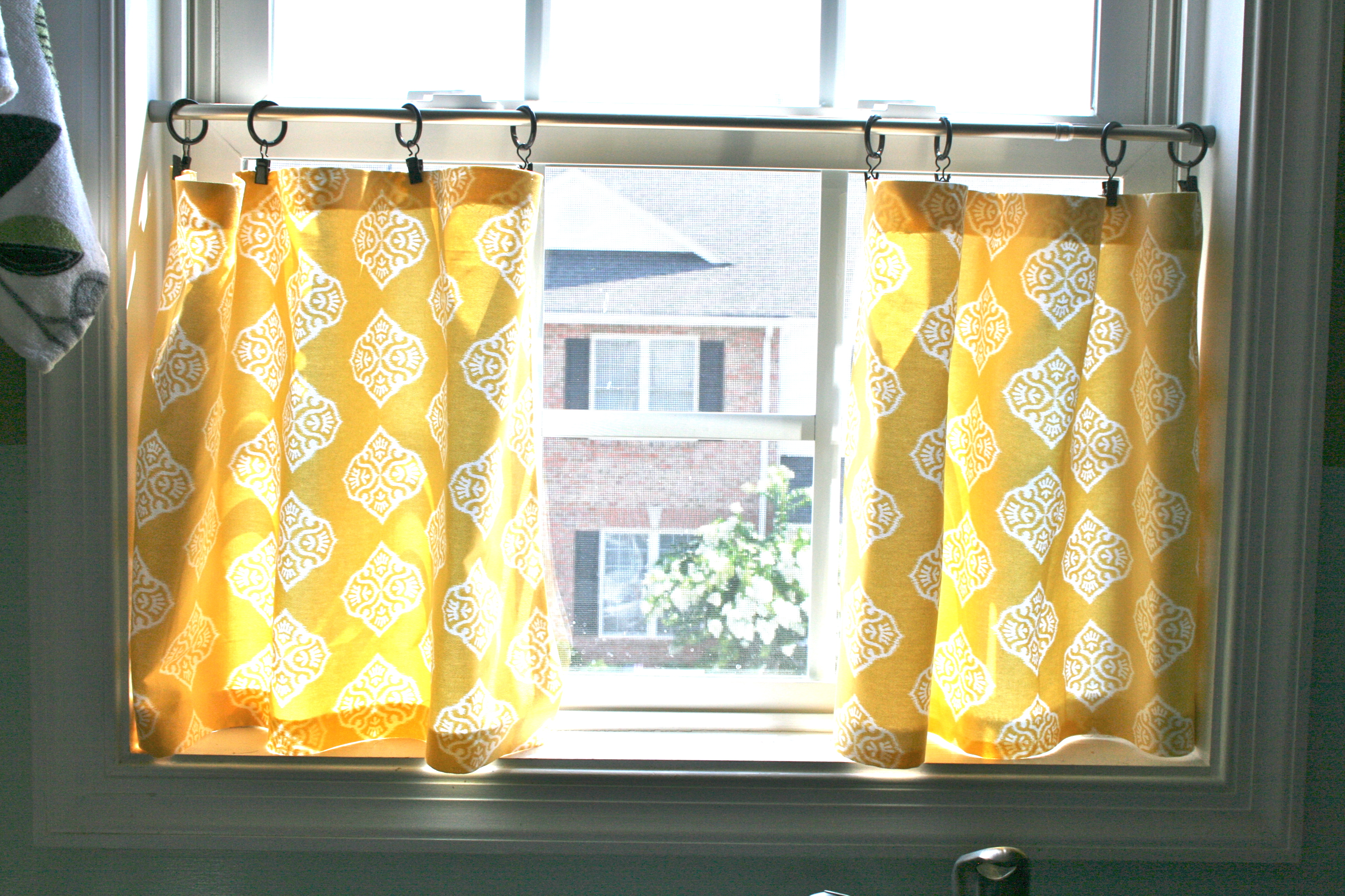 Cafe Curtain Clips Pinspiration Monday No Sew Cafe Curtains Dream Green Diy