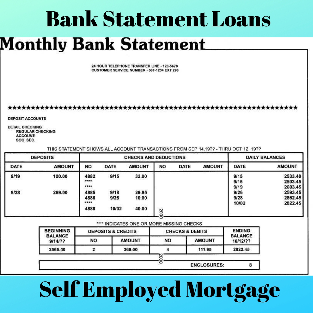 Bank Home Mortgage Rates 2019 Bank Statement Loans For Self Employed Bank Statement