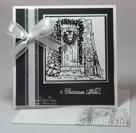 A Black  White Christmas Card Class - christmas cards black and white