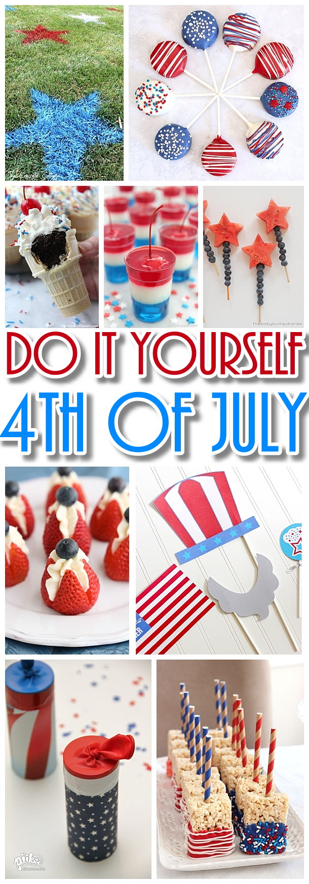 Do It Yourself 4th Of July The Best Diy Patriotic Red White And Blue Holiday Party Planning Ideas Dreaming In Diy