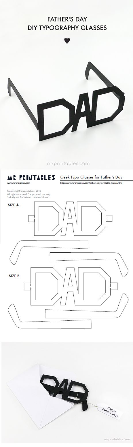 DIY Father\u0027s Day Cards {The Best FREE Printable Paper Crafts just