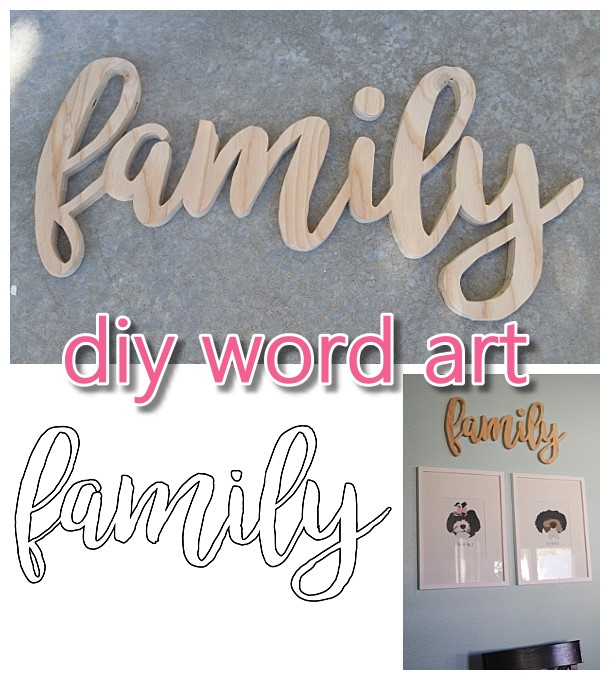 Do it Yourself Word Art {Easy Scroll Saw Woodworking DIY Project and