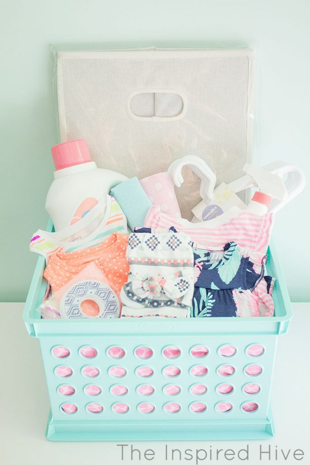 baby shower gift basket full baby shower laundry gift basket tutorial